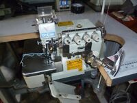 Brother V-Series 5-thread Overlock Industrial Sewing Machine With binding/piping foot attachment