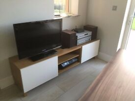 TV Stand for sale – light brown and beige - £80