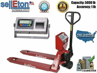 Ps-5000pjl Pallet Jack Scale With Built-in Printer L 5000 Lb Capacity