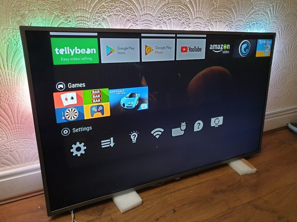 BOXED PHILIPS 55-Inch 4K Ultra HD ULED Smart ANDROID TV with 3-sided  Ambilight,FREEVIEW & FREESAT HD | in Salford, Manchester | Gumtree