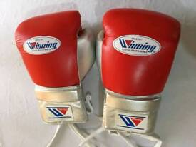 nrw winning customized real leather boxing gloves in all oz