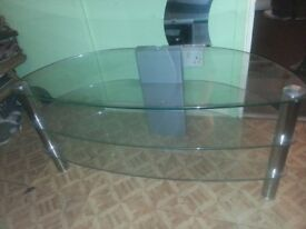 glass TVstand near new condition
