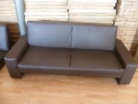 New Brown Faux Leather Sofa Bed (FREE LOCAL DELIVERY!!!)