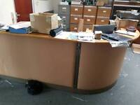 Rounded reception desk