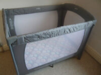 Mothercare Travel Cot with optional mattress.