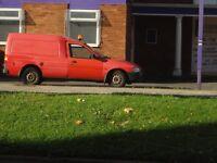 Y Ford Escort Van with rack