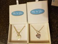 Very Rare Me to you sterling Sliver necklace & bracelet set