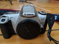 Canon EOS 300 camera with two lenses, hardly used