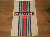 Martini racing Lancia delta beta coupe workshop flag banner