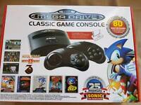 Sega Mega Drive classic game console with 80 games built in