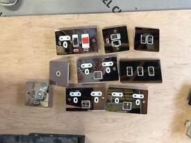 Chrome decorative sockets switches