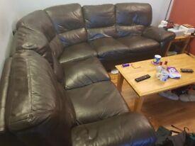 Black Leather Sofa