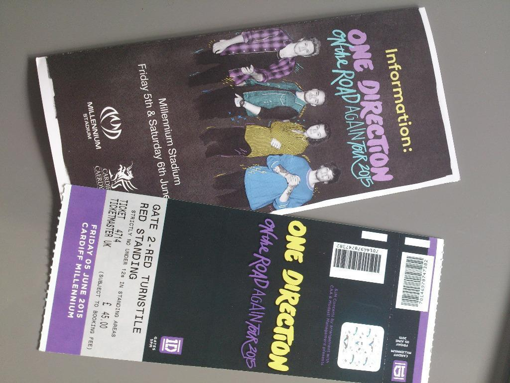 Reduced Price 1 X One Direction Ticket Red Standing Friday 5th