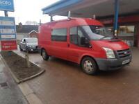 2008 Ford transit crew van 2.2 t300 fwd big wheel psved cheap readd add