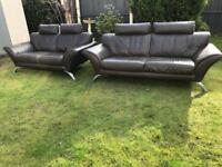 Stunning 3&2 seater Italian leather designer modern sofas can deliver
