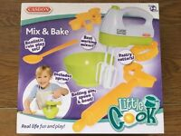 BNIB Casdon Little Cook Mix & Bake Play Set