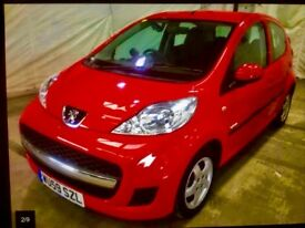 59 PEUGEOT 107 998cc. 5 door hatchback. 55k full service history , New mot , great 1st car