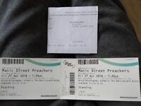 2 Manic Street Preachers tickets, Birmingham.
