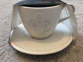 Gorgeous Luxury Gift Cup and Saucer - Crown