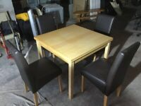 Square extendable dining table ( chairs not included )