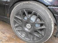 "BBS 4 x 100mm 16"" rims tires are minimal but sticky"
