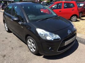 2010/10 CITROEN C3 1.6 HDI 16V EXCLUSIVE 5 DR BLACK LOW MILEAGE,£20 ROAD TAX ,HIGH SPEC,DRIVES WELL