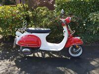 """AJS Modena 50cc scooter - retro """"Vespa"""" style"""