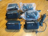 SIX NEC MINI SPEAKERS with mounting brackets
