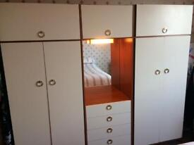 2 double wardrobes, chest of drawers and bedside cabinet