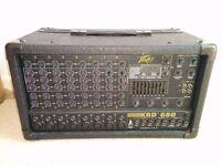 Peavey XRD 680 Mixer Amplifier + cables