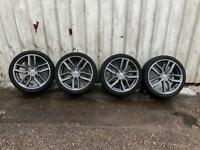 """Genuine Audi s3 8v alloy wheels set 18"""" with tyres"""