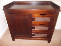 Mahogany chest of drawers good condition