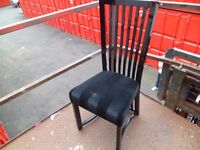 6 black dining chairs,casabella great condition