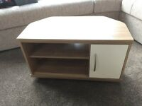 TV Corner unit in light wood, new, unused