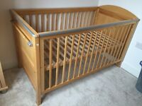 Mamas and Papas wooden cot bed