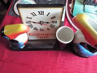 Guiness Clock and Guiness Toucan Large Water Jug.