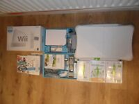 Complete Package GWO Nintendo Wii Console & 2 Hand Sets & Wii Fit Board & Games