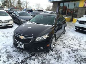 2014 Chevrolet Cruze 2LT, RS PACKAGE, LEATHER, SUNROOF, 6 SPEED!