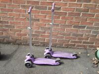 two scooters - ideal for little ones.