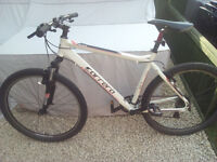 """2015 Carrera Valour mountain bike. 20"""" frame. 24 gears. Frame and forks in excellent condition."""
