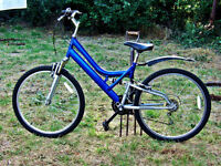 ADULTS DROP FRAME SIT UP AND BEG STYLE FULL SUSPENSION MOUNTAIN BIKE