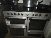 Flavel Electric Hob and ovens Range Cooker - only 6 months old . 2 ovens, grill , 5 ring hob
