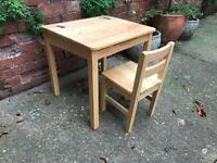 Kids desk and chair / pin furniture