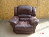 Leather Armchair (Arm Chair) with an Electric Recliner with a DFS Leather Care Kit. Can Deliver.