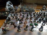 dnd books, warhammer books, lead and plastic figures joblot