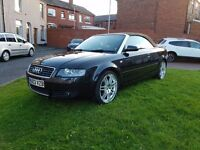 AUDI A4 CABRIOLET 2.5 V6 TDI MULTI-TRONIC (CVT) STUNNING FULL LEATHER WELL LOOKED AFTER