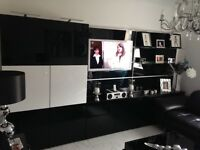 Wall and tv unit with storage