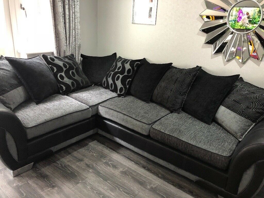 Fabric Corner Sofa And Cuddle Chair In Clifton