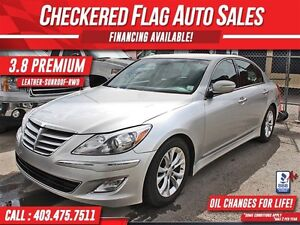 2013 Hyundai Genesis 3.8 Premium W/ Heated Leather-Sunroof-RWD