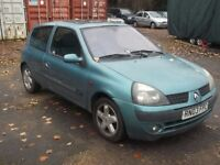 2003 RENAULT CLIO BILLABONG 16V 1.2, MOT JULY 2017, ONLY 69,000 MILES, CLUTCH IS SLIPPING